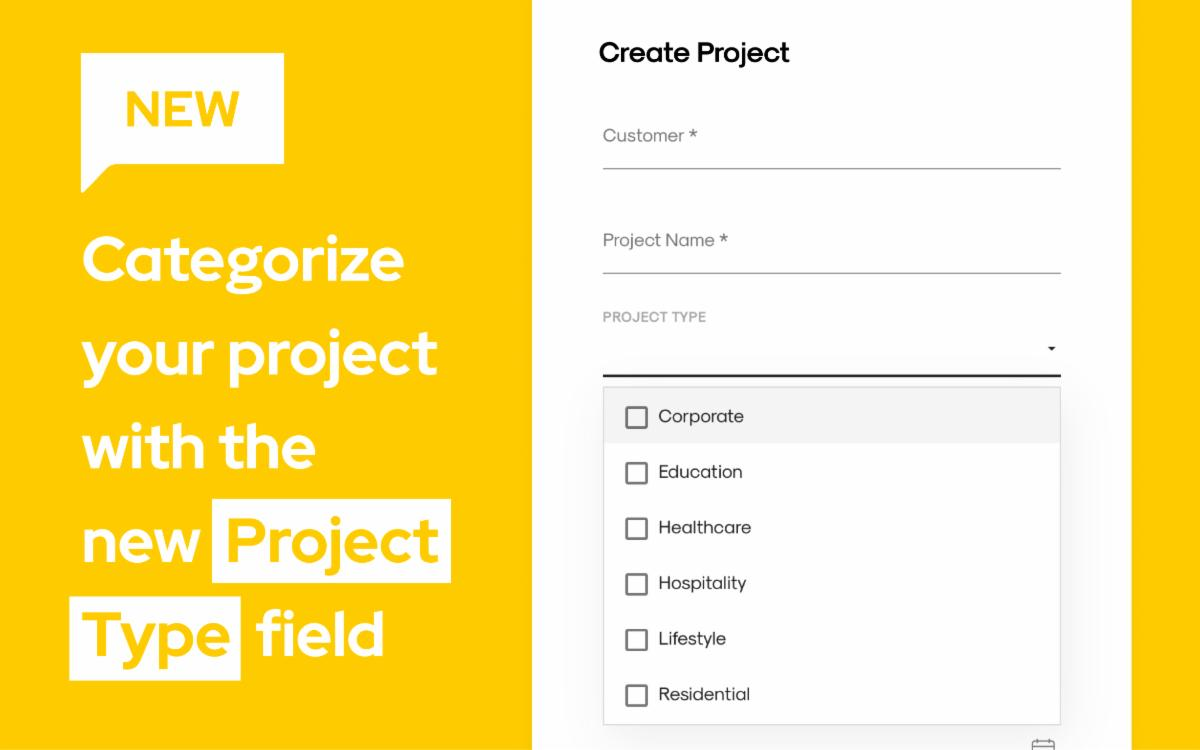 Categorize your project clearly with the new Project Type field