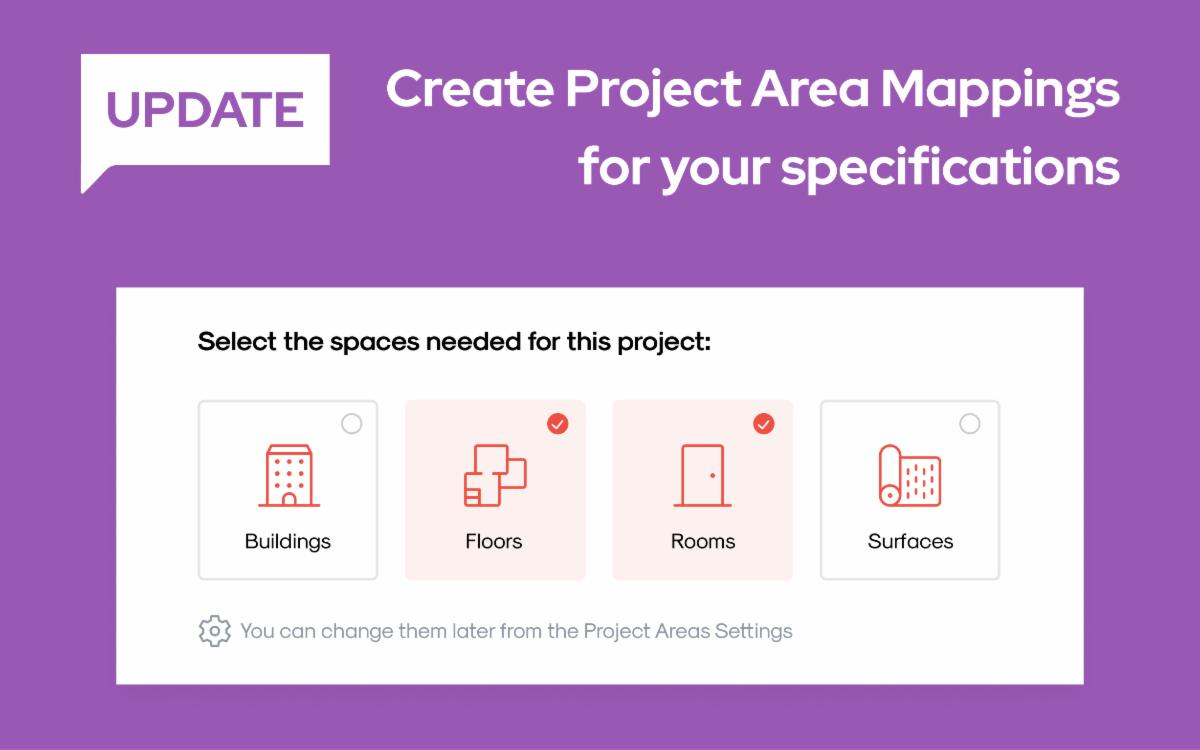 Create Project Area Mappings for your specifications