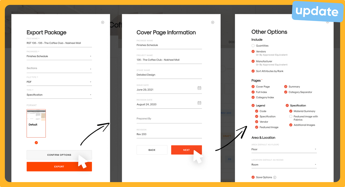 Save your options and create a preserved version of your template